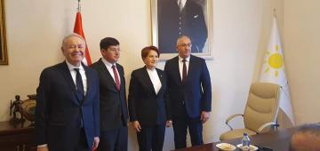 Başkan Özcan İYİ Parti lideri ile buluştu