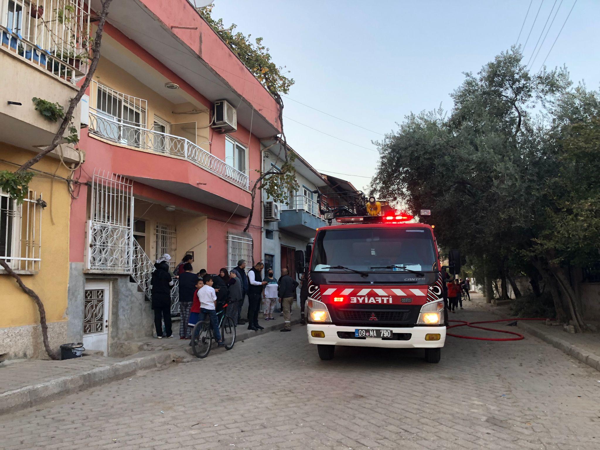 Nazilli'de Korkutan Yangın; 1 Kişi Yaralandı